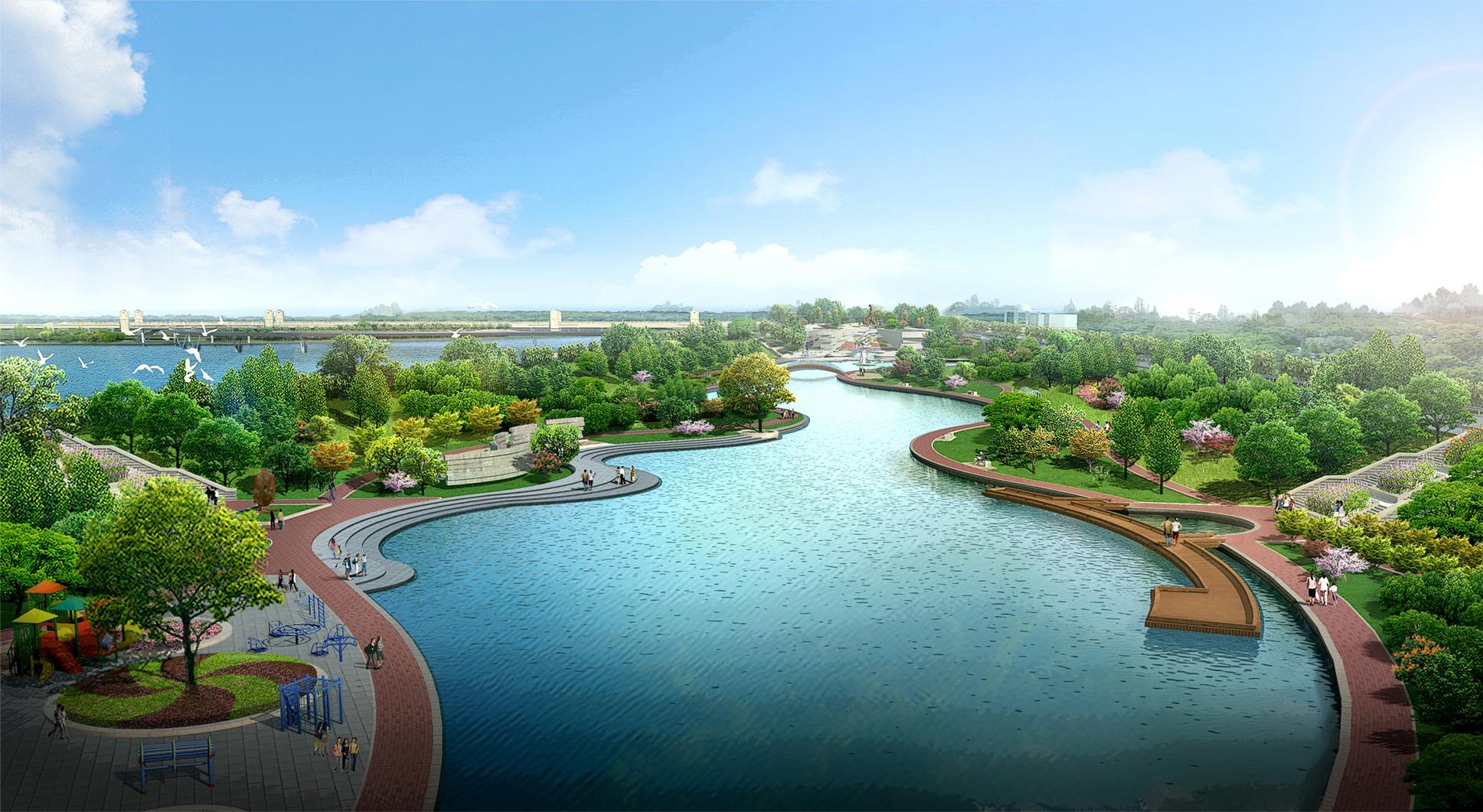 穆棱河景观设计